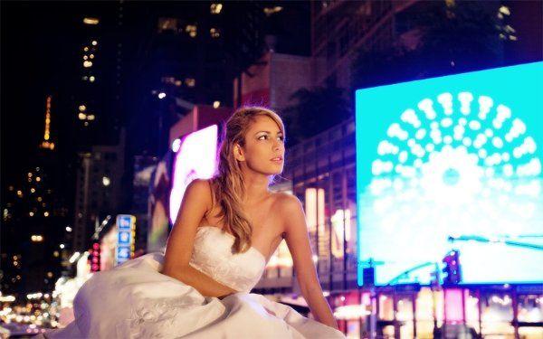 Bride In Times Square