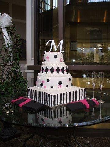 Tmx 1231896707451 PinkandBlackWedding Greensboro wedding cake