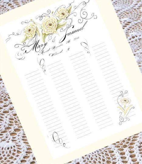 Calligraphy Wedding Certificat