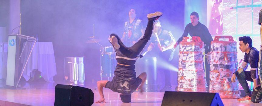 Break dancing to rhythms