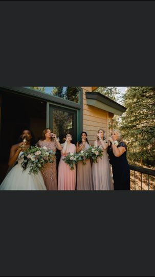 Makeup for bridal party
