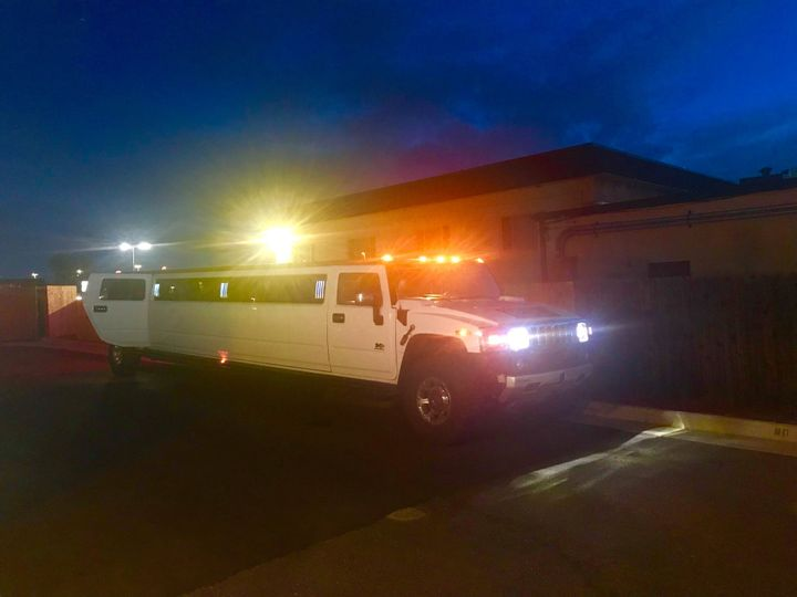 Stretch Hummer look at night