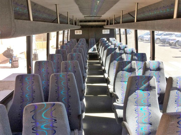 41 passenger bus interior