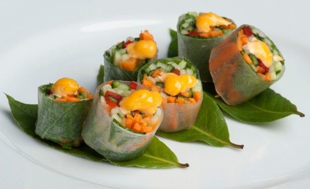 Tmx 1489510733370 A Fresh Vegetable Spring Roll With Citrus Srirachi Bethel, CT wedding catering