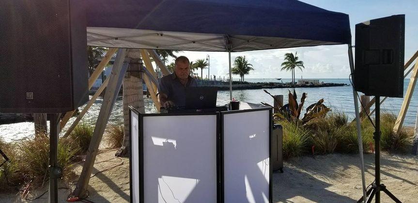 Performing at a tropical vendor