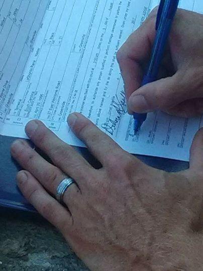 Wedding certification