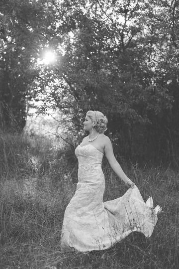 Bride, black and white