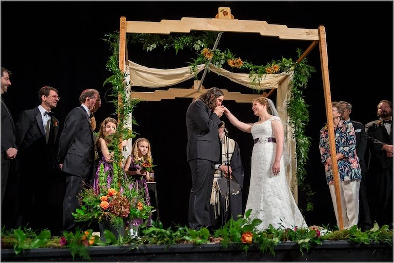 Chuppah on a stage
