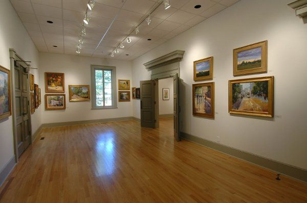 Interior view of the Quinlan Visual Arts Center