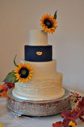 blue sunflower wedding fcb