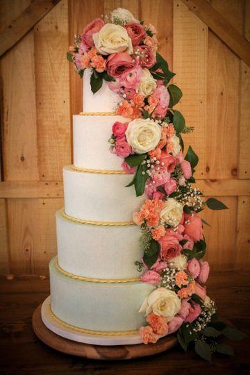 blue gold wedding cake butter cream wedding cake fresh flower wedding cake ombre wedding cake 5 tier wedding cake elegant wedding cake custom cake design wedding cake designer the fancy cake box 51 908431 157788861178389
