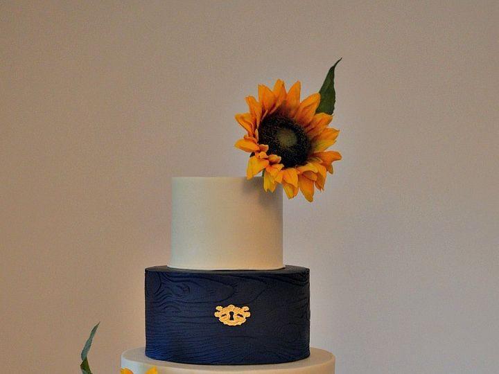 Tmx 1478089461192 Blue Sunflower Wedding Fcb Au Sable Forks, NY wedding cake
