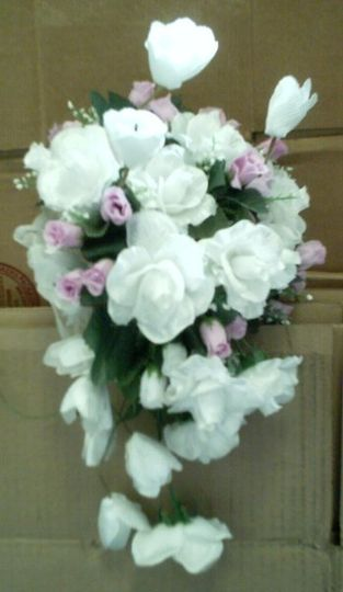 This unique large bouquet will be the perfect accent to your wedding dress.  Each bouquet is custom...