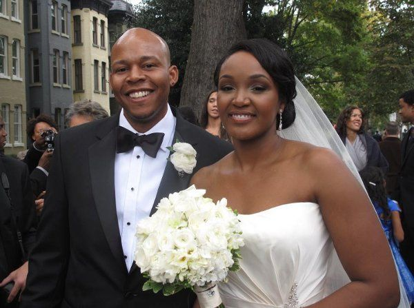 The happy couple after their ceremony in DC.