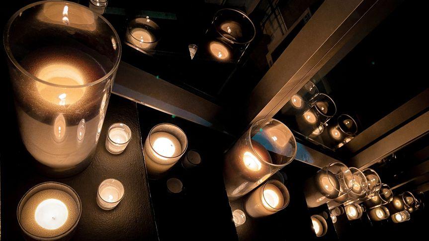 Nighttime candle light