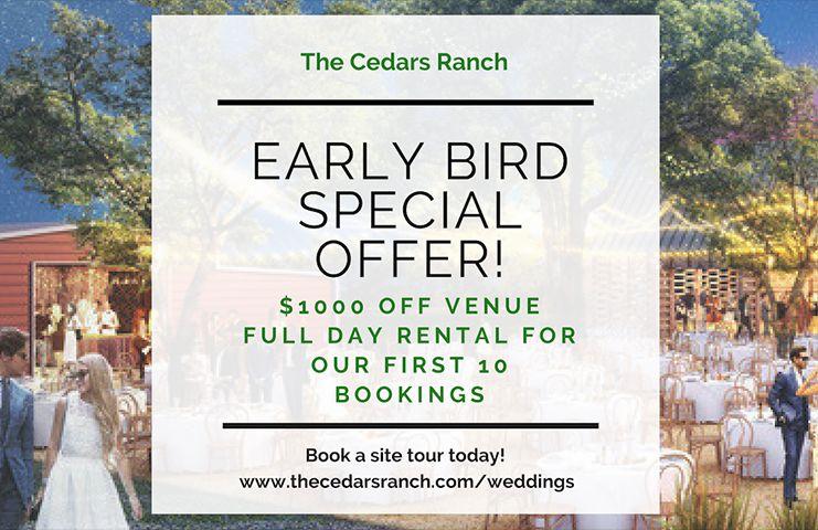 New Wedding Venue Discount