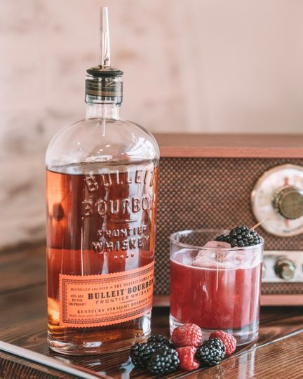 Berries and bourbon