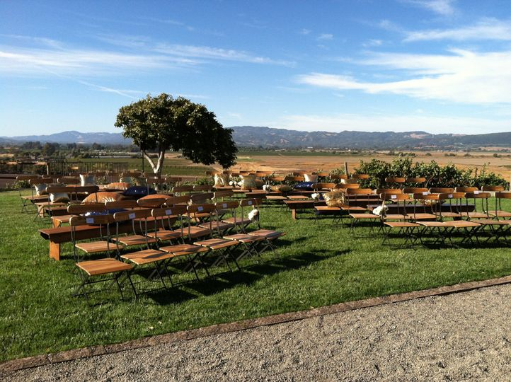 The wedding benches