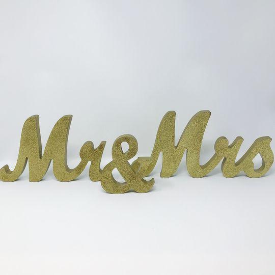 Gold Mr. & Mrs