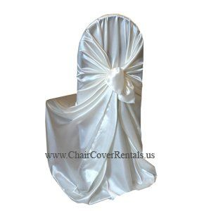 Self-tie chair cover