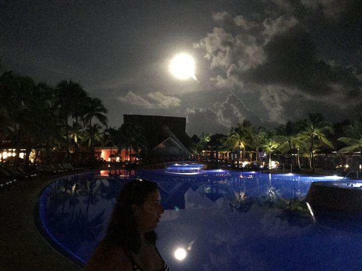 Romantic Mexican moon