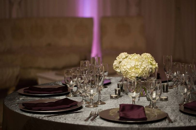 Classy table arrangements