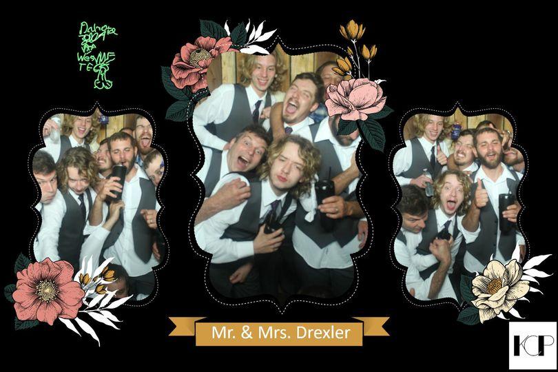 The groomsmen goofing