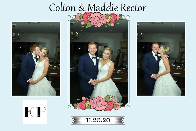 Smooches for the bride & Groom