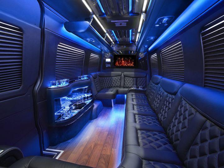 Tmx 1511996491742 Sprinter Limo Rear Milan, Michigan wedding transportation
