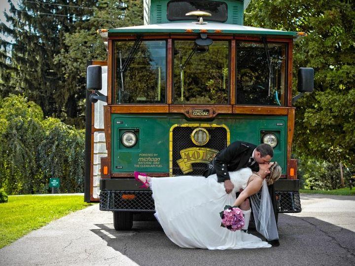 Tmx 1511996534031 Trolley With Kilt Wedding Milan, Michigan wedding transportation