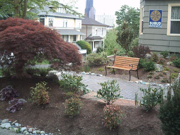 Serenity Garden offers a beautiful entrance to the building.  It is across from a small park with...