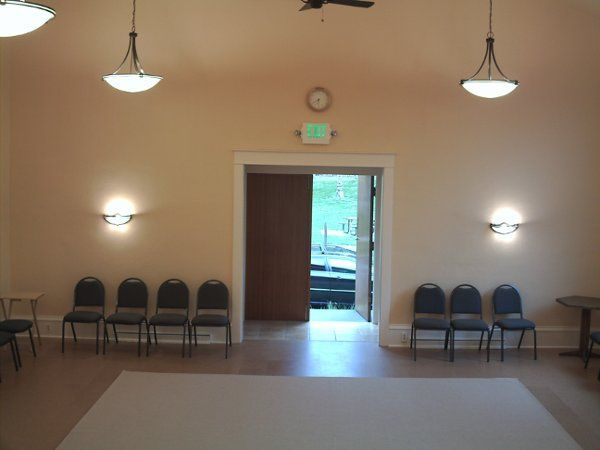 Real of Chapel:  This newly renovated chapel has many green features including wool carpeting,...