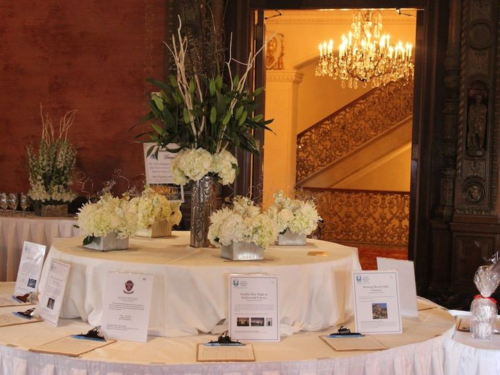 Tmx 1449690091858 Auction Table And Stairwell Los Angeles, California wedding florist