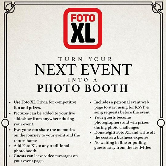 Foto XL One service. So many uses.