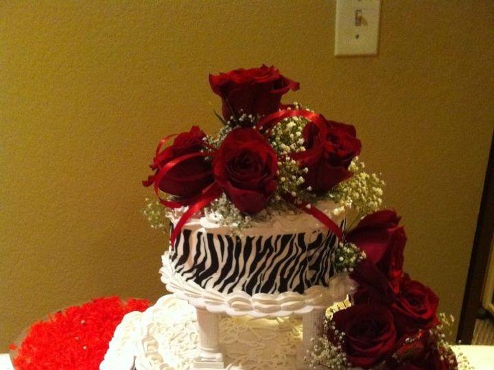 Tmx 1398305171438 Zebra Cake With Real Red Rose Anchorage wedding cake