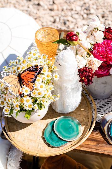 Selenite + Agate Coasters