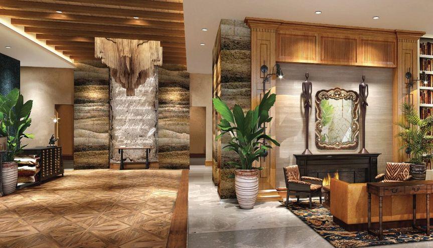 Beautiful Guest Reception Area
