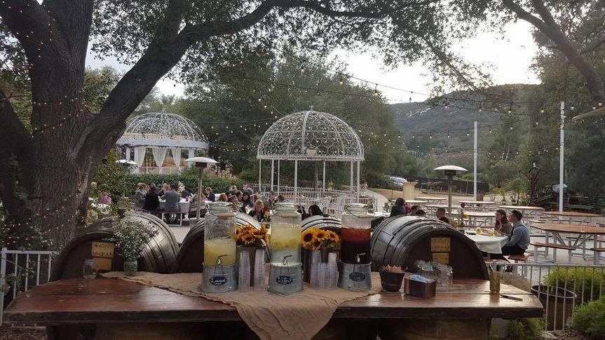 whispering oaks drink setup