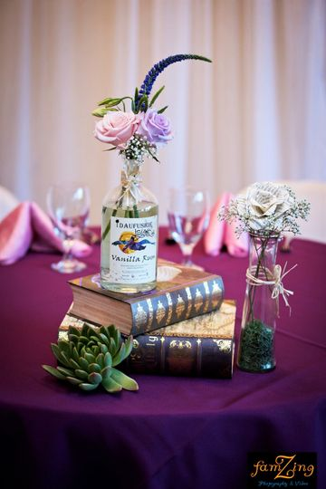 Violet table cloths