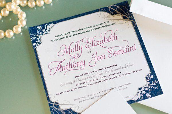 Tmx 1315941681129 MollyAJVermontWeddingSimpleElegance5 Fairfax wedding invitation
