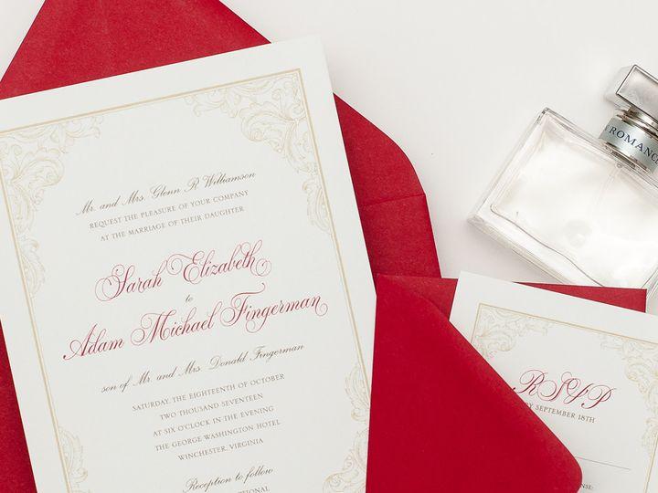 Tmx 1420644059158 Christaalexandradesignsweddinginvitationsstationer Fairfax wedding invitation