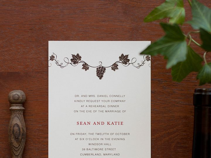 Tmx 1420644931180 Christaalexandradesignsitalianwineryelegantvineyar Fairfax wedding invitation