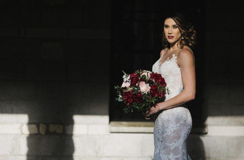 Burgundy Bride