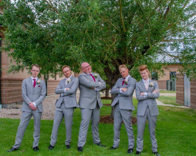 The groom and guys - Gale Fine Arts & Wyo Wedding Photography