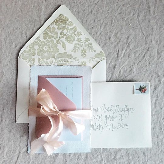 Delicate Rose Invite Suite