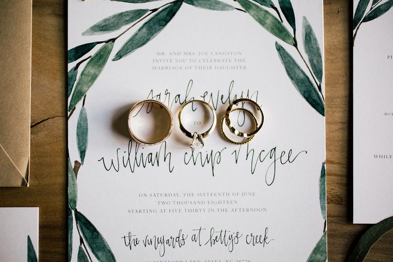 Natural Greenery Invite Suite