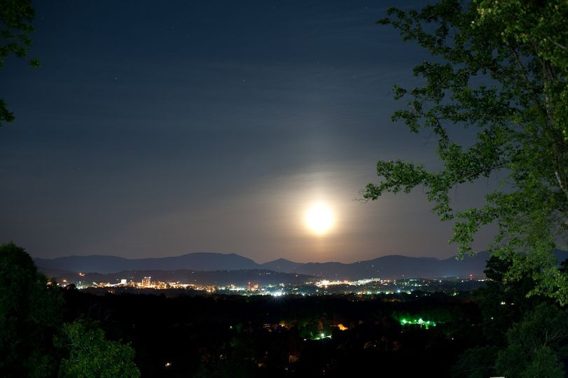 Nighttime View of Asheville
