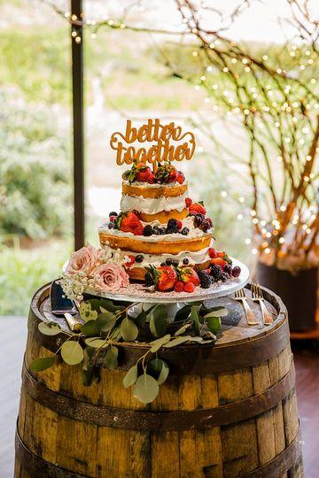 Oak Barrel Wedding Cake