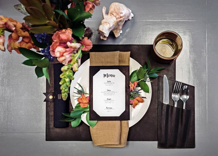 Leather Menu & Placemat