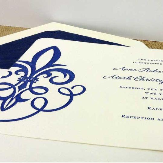 Modern meets classic wedding invitations